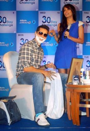 Malaika Arora Khan and Dino at  At Gillette 30 Day Challenge