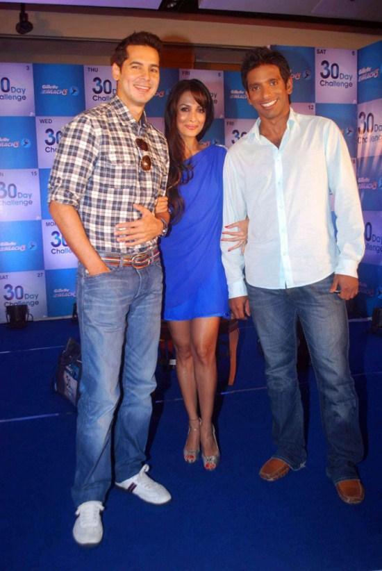Malaika Dino & Ritwik Bhatachariya At Gillette 30 Day Challenge