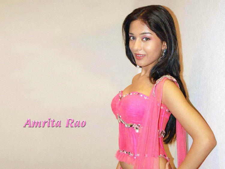 Amrita Rao pink hot wallpaper