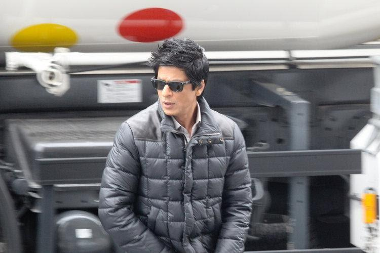 Shahrukh khan at Don 2 shooting sets