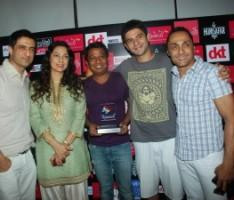 Rahul Bose with Winners of Kashish Best Feature