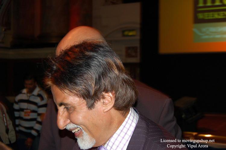 Amitabh Bachchan having a laugh