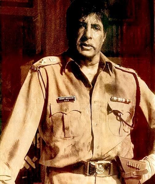 Amitabh Bachchan with police dress