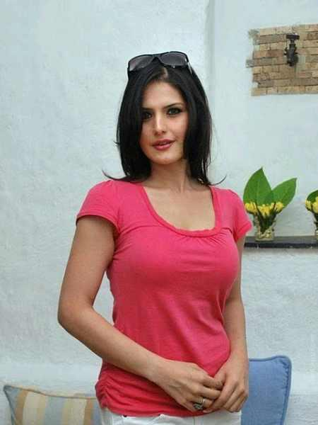 Zarine Khan pink hot photo