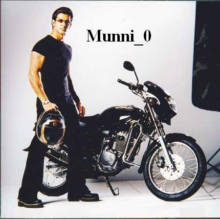 Hrithik Roshan sexy pic with bike