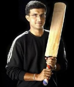 Sourav Ganguly with bat