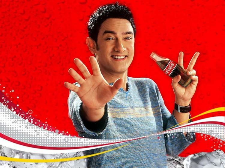 Aamir Khan cute smile coca cola wallpaper