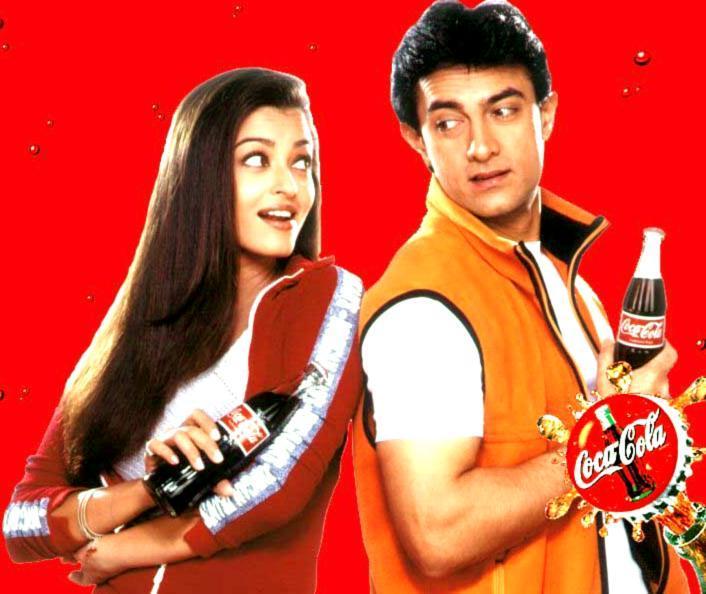 Coca Cola Ad  Aamir Khan with aishwarya rai bacchan