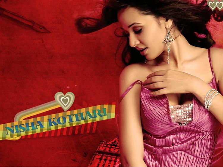 Nisha Kothari spicy and sexy wallpaper
