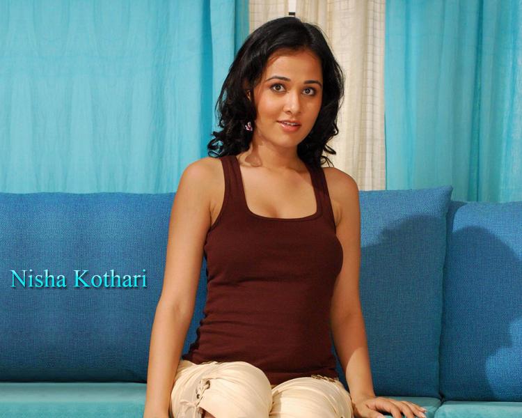 Nisha Kothari sexy smile wallpaper
