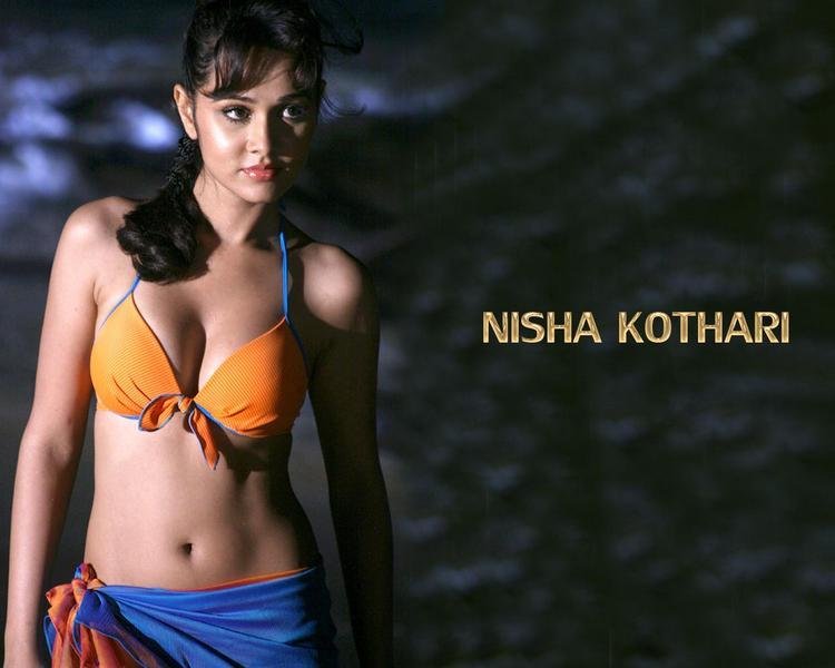 Nisha Kothari in bikini hot wallpaper