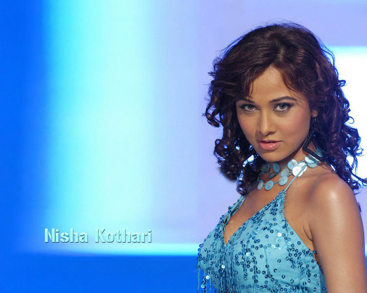Nisha Kothari sexy eyes wallpaper
