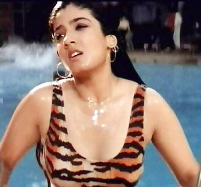 Raveena Tandon looking very hot and sexy