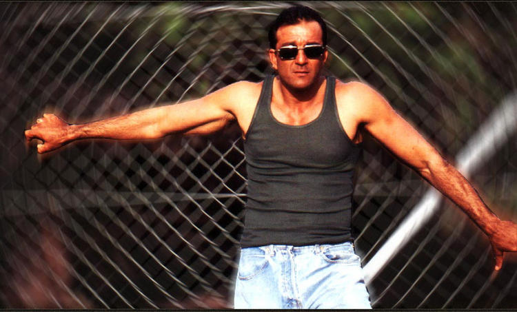 Sanjay Dutt Strong arm pose wallpaper