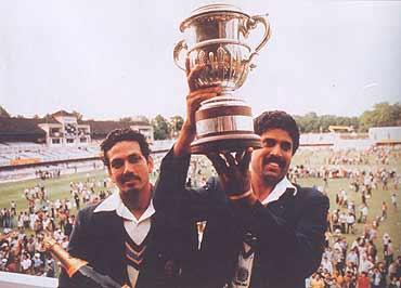 Kapil Dev with World Cup pics