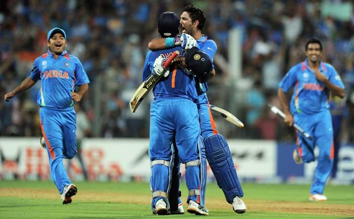 Cricket world cup  final India vs Sri Lanka dhoni yuvraj singh stills