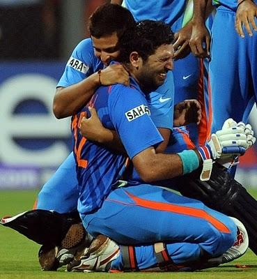world cup  final india winning suresh raina and yuvraj singh moment stills