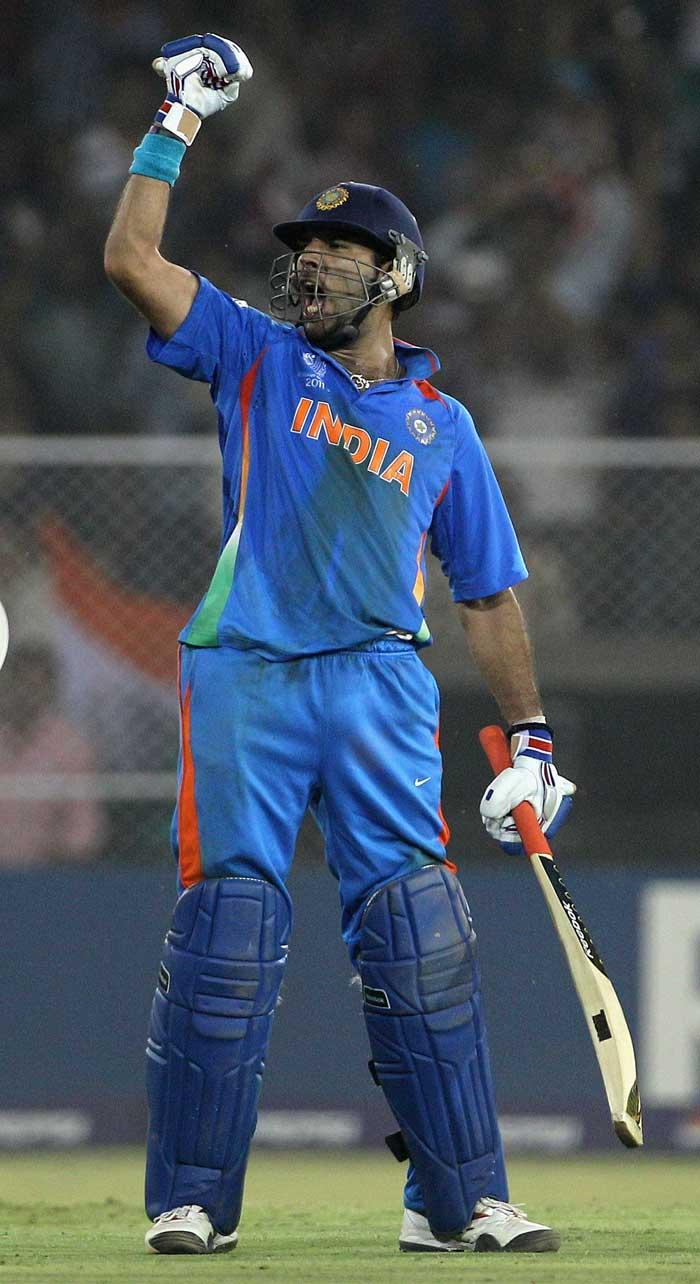 world cup  india Yuvraj Singh  runs leading score  place