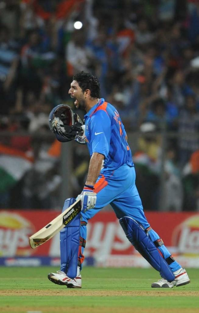 Yuvraj Singh at World Cup  final india vs Sri Lanka