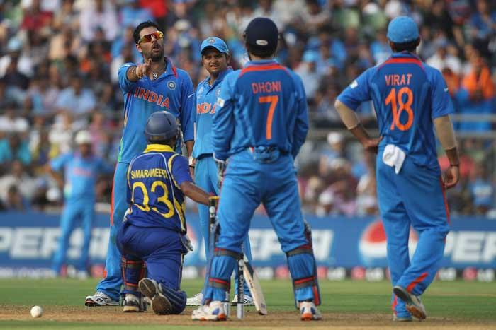 cricket world cup  final india vs sri lanka Yuvraj Singh take out