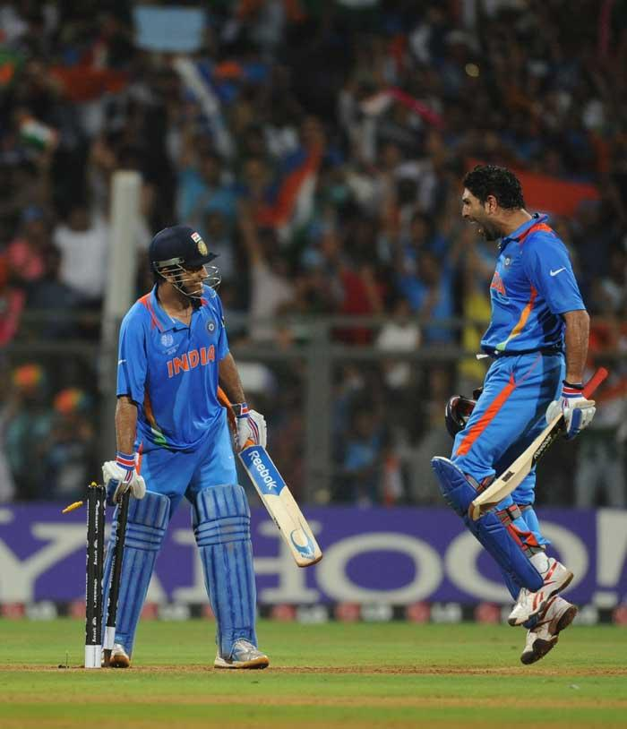 world cup  final india vs sri lanka win by india dhoni yuvraj singh stills