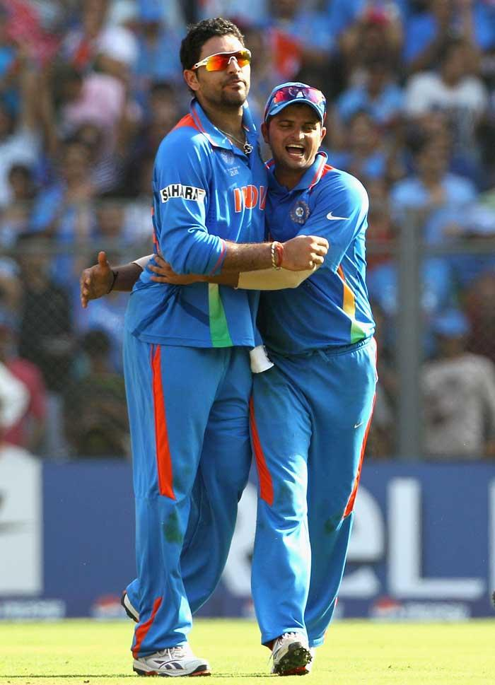 cricket world cup  top wicket taker india Yuvraj Singh  wickets in  place