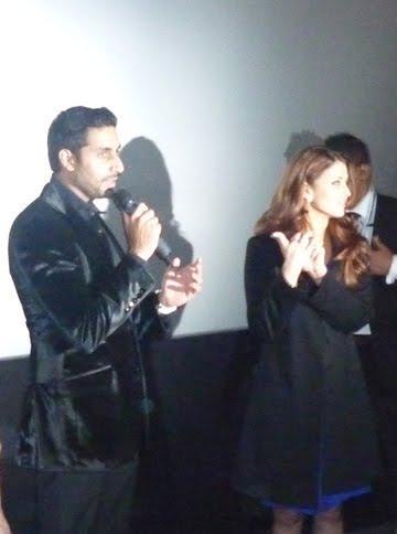 Aishwarya with Abhishek Bachchan at Robot Premiere In London