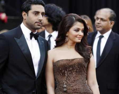 Aishwarya rai Abhishek Bachchan in the Oscar Awards ceremony