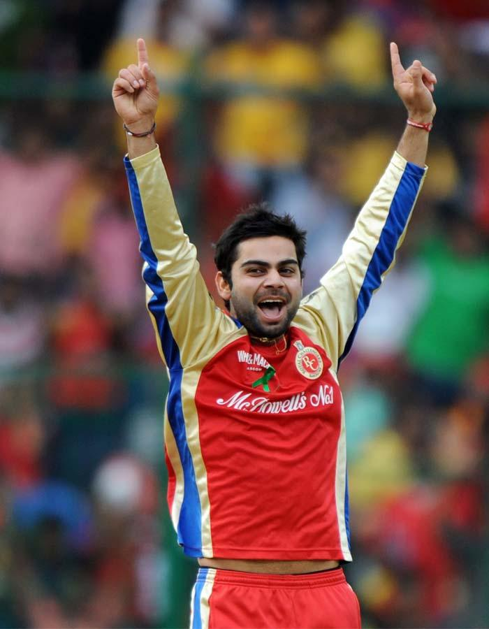ipl  twenty cricket match  RCB player virat kohli happy stills