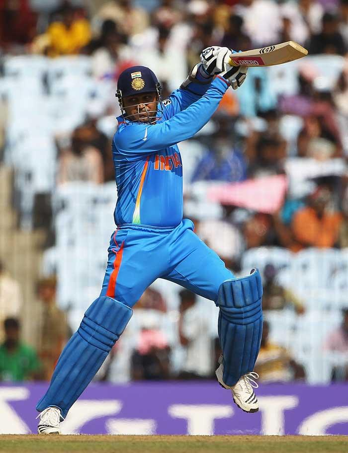 world cup  india Virender Sehwag  runs leading score  place