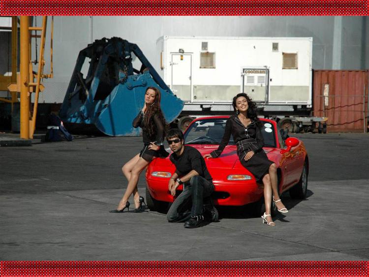 Celina Jaitley with Emran Hashmi & Hrishita Bhatt