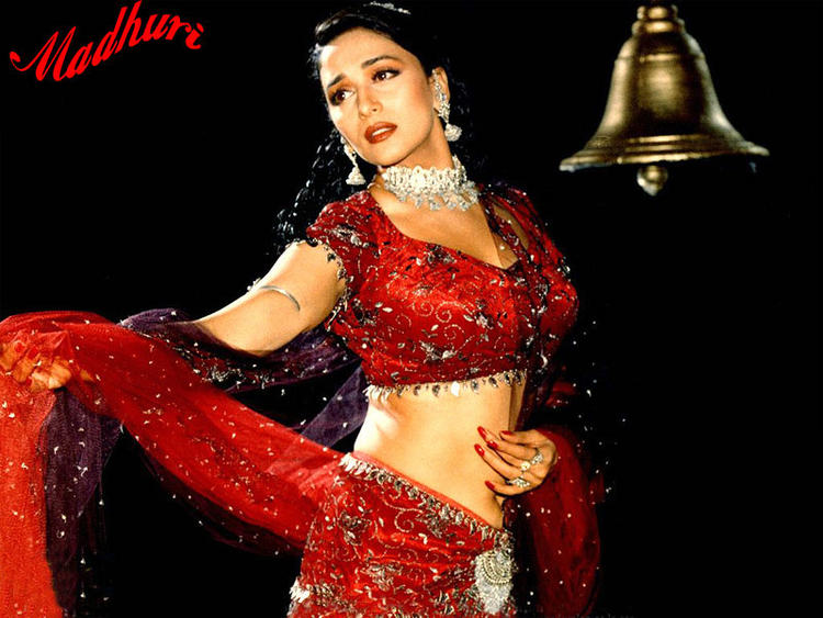 Madhuri Dixit red hot and sexy in saree