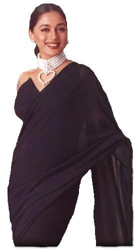 Madhuri Dixit look hot and spicy in saree