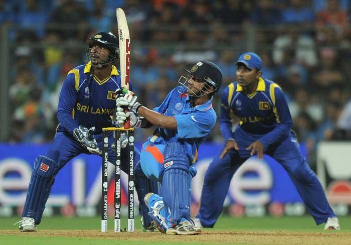 world cup  final india vs sri lanka indian cricketer Gautam Gambhir beat sixer