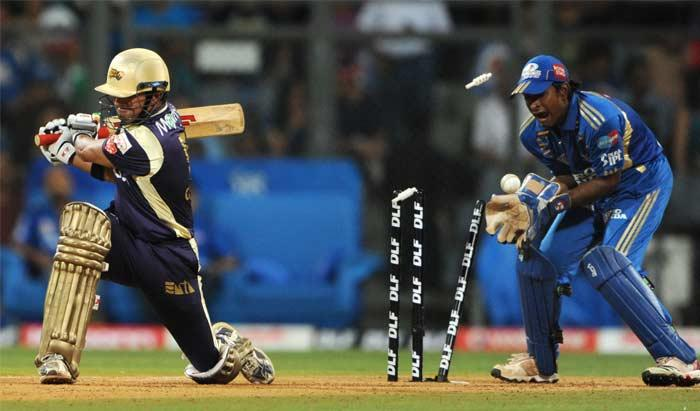 IPL T cricket match Gautam Gambhir super wicket photos