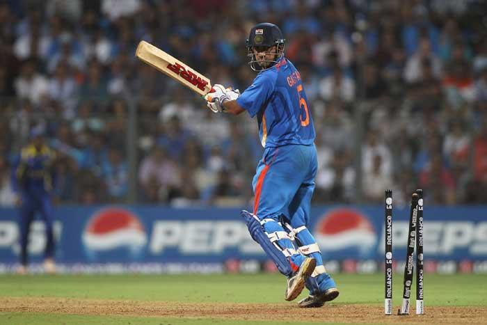 World Cup  final india vs Sri Lanka Gautam Gambhir out stills