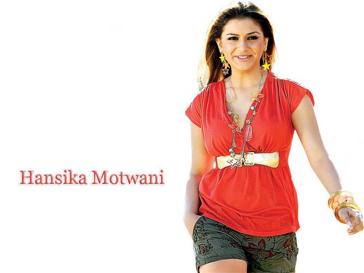 Hansika Motwani red sexy pics