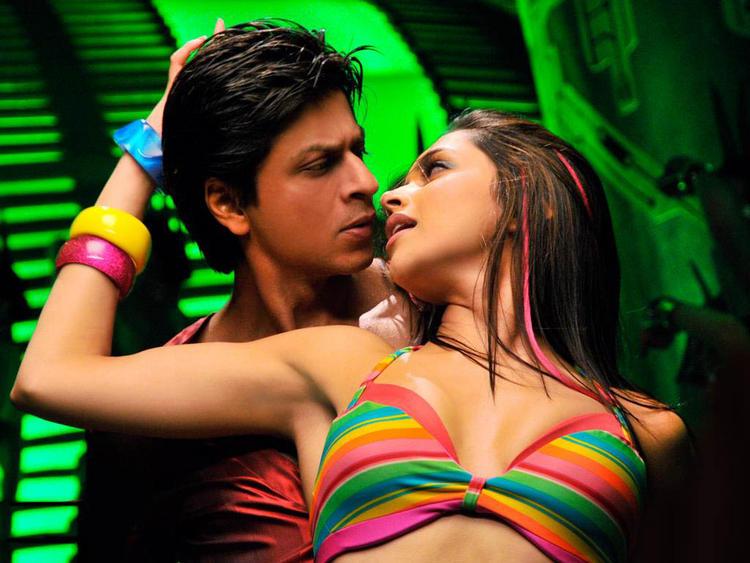 Deepika Padukone with Shahrukh Khan