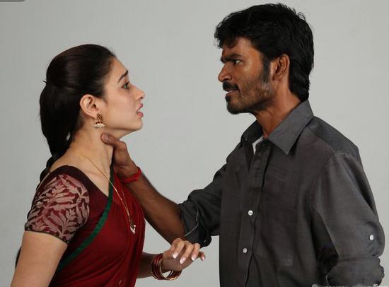 Dhanush &  Tamanna Fight seen stills in 'Vengai'