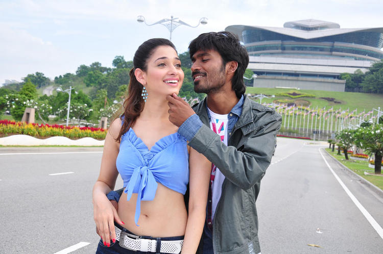 Dhanush with hot & sexy Tamanna in Vengai