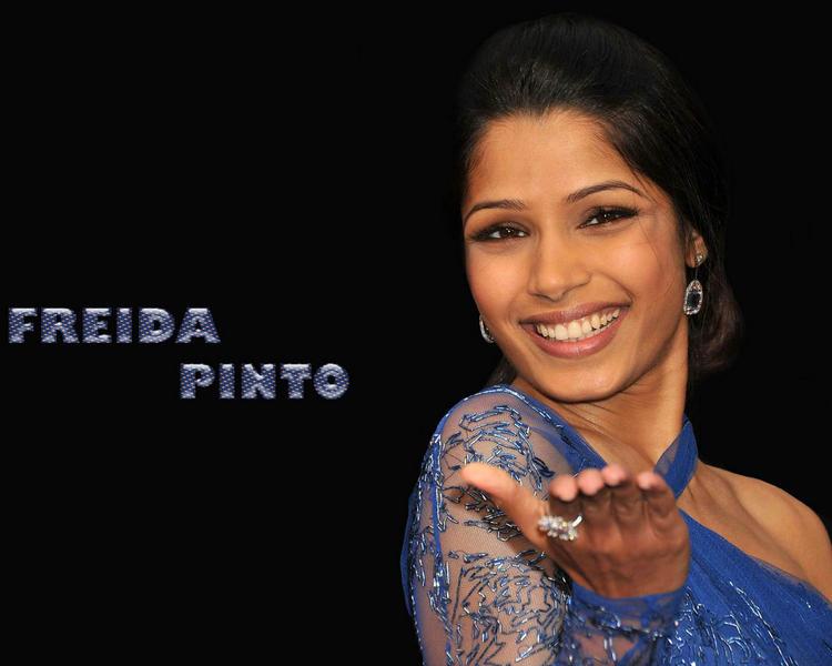 Freida Pinto cute smile wallpaper