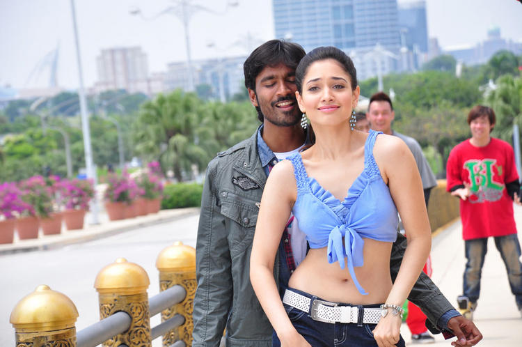 Vengai Dhanush Tamanna sexy Stills