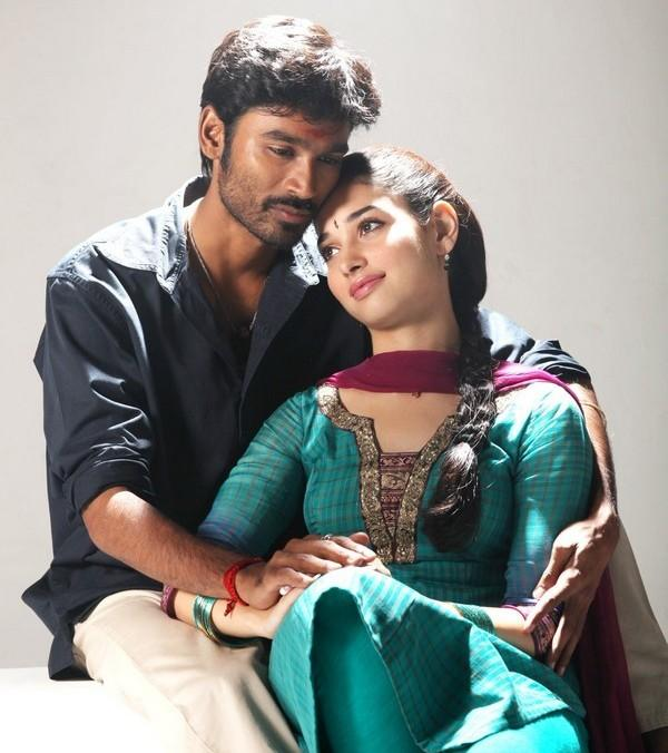Romantic Dhanush & Tamana stills from 'vengai'