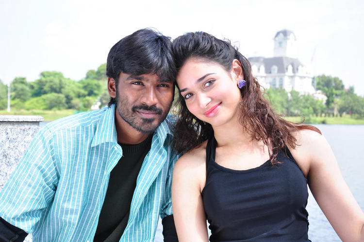 Dhanush Tamanna sexy Stills in Vengai movie