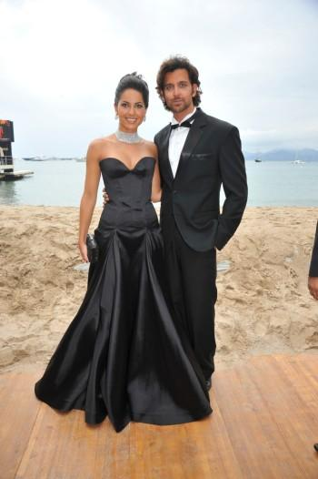 Barbara Mori and Hrithik Roshan at Cannes