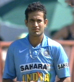 Irfan Pathan The Indian left arm medium pacer