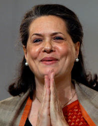 Sonia gandhi welcome photos
