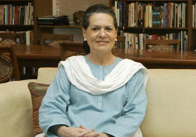 Sonia gandhi with home photos