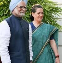 Sonia Gandhi with Prime Minister Manmohan singh