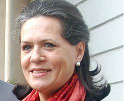 Sonia Gandhi smilling face